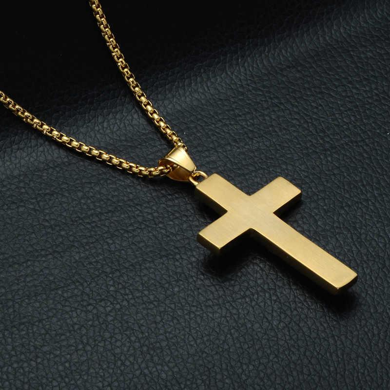 ヒップホップブリンブリンアイスアウト映里十字架イエスピースペンダント & ネックレスステンレス鋼の Cz クリスタルクロスネックレスクリスチャンジュエリー