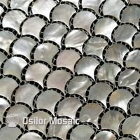 free shipping whitelip sea shell mother of pearl mosaic tile for home decoration wall tile fan shaped white color