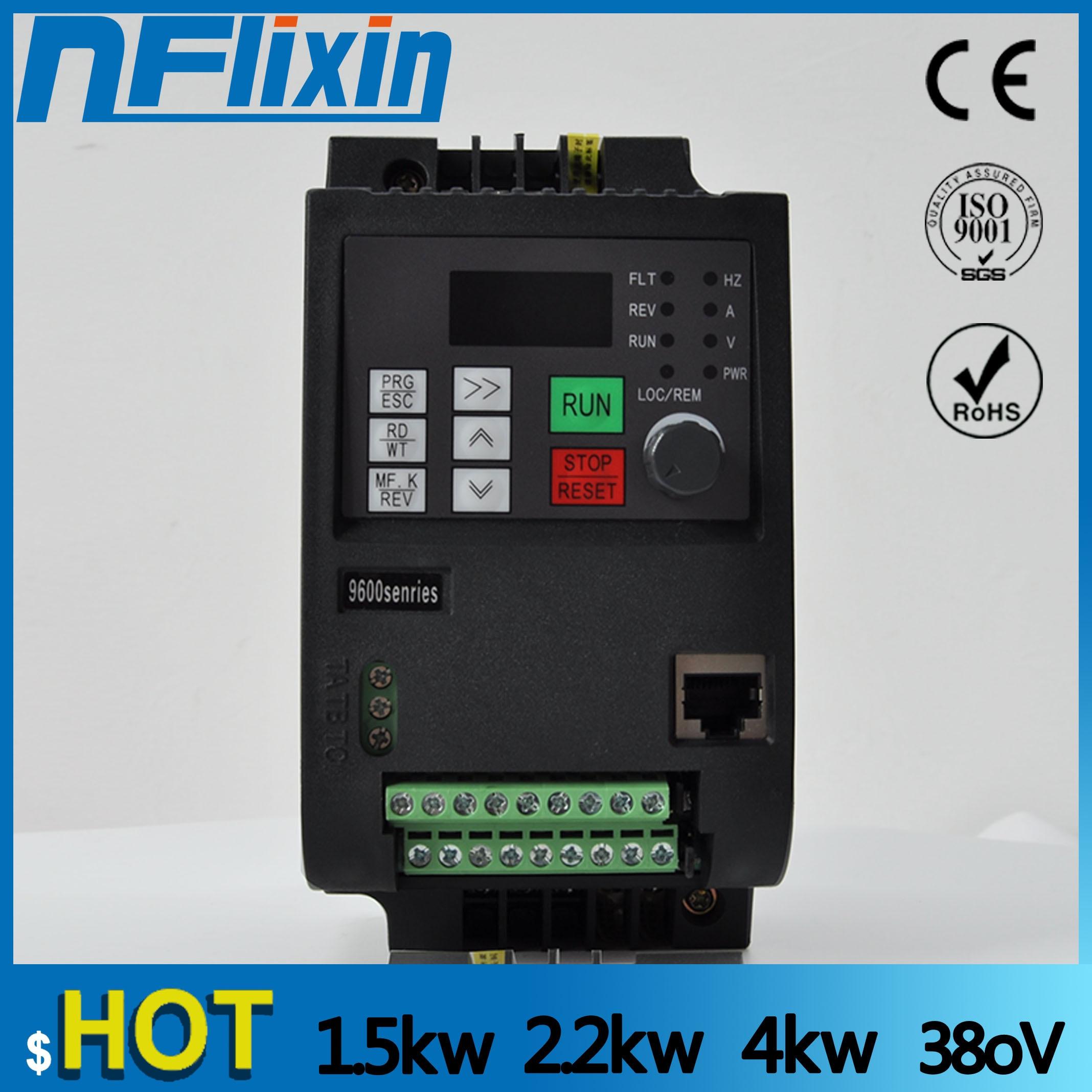 4kw 380v AC convertisseur de fréquence et convertisseur triphasé entrée 380v 3 phases sortie ac lecteurs/convertisseur de fréquence