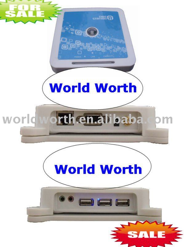 wireless wifi Thin Client Win CE 6.0  Net Computer PC Sharing mic 3 usb port support linux window7 1440X900