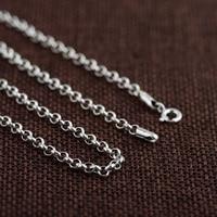 GZ 100% 925 Bạc Liên Kết Chuỗi cho Phụ Nữ Đàn Ông Accessorice S925 Thái 3 MÉT Rắn Bạc Đồ Trang Sức Làm Necklaces