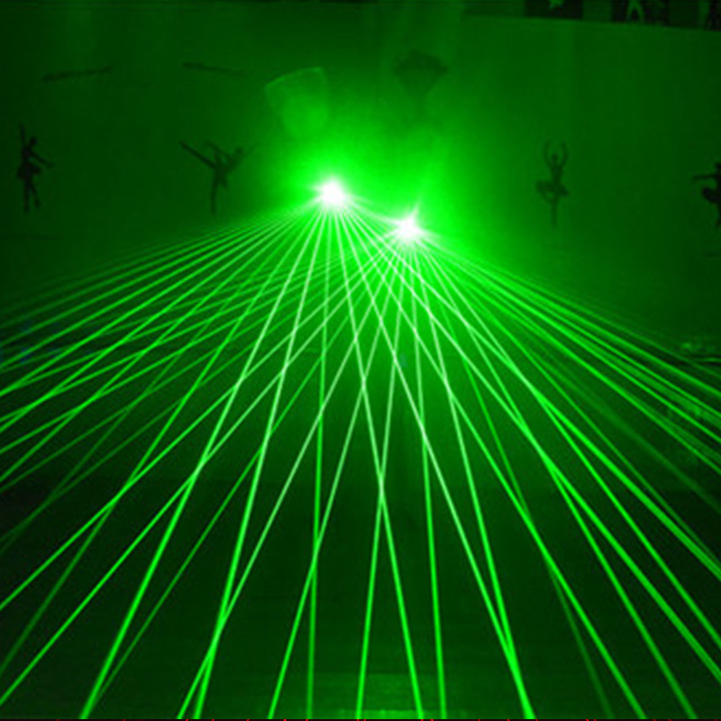 Green Red Laser Glove With 4pcs 532nm 80mW LED Light Dancing Stage Luminous palm lights Gloves For DJ Club KTV Show Gloves