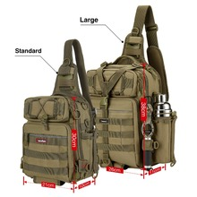 Nylon Multi functional Waterproof  Single Shoulder Fishing Gear Tackle Bags