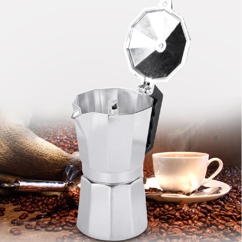 Stovetop Coffee Maker Home : Moka Express Stovetop Espresso Coffee Maker Pot Latte Percolator Stove 3 Cup 150ML Aluminum -in ...