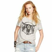 e2cec52e83a7 Fashion Women T-Shirts Short Sleeved Shirts Ox Horn Pattern Summer Cotton  Graphic Tops Tee