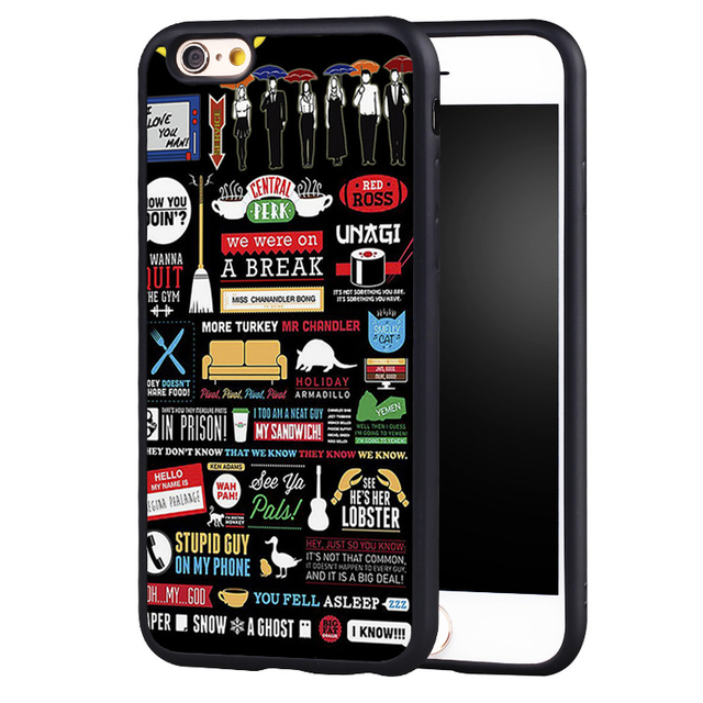 FRIENDS TV SERIES FUNNY COLLAGE ARTWORK  Phone Case For iPhone 6 6S Plus SE 5 5S 5C 4 4S