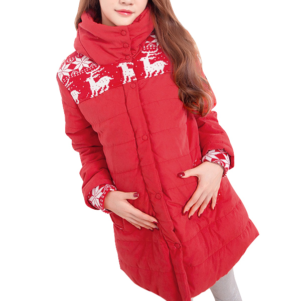 Maternity Winter DownJackets Coats Clothes Plus Size Pregnancy Hooded Coat Windbreaker Warm Outwear Clothing For Pregnant Women