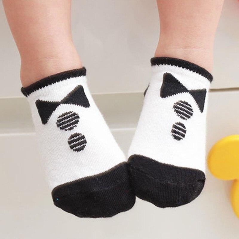 Дети Детские Мальчики Девочки Дышащие Носки Хлопчатобумажные Трикотажные Антипробуксовочная Короткие Носки Горячий Продавать