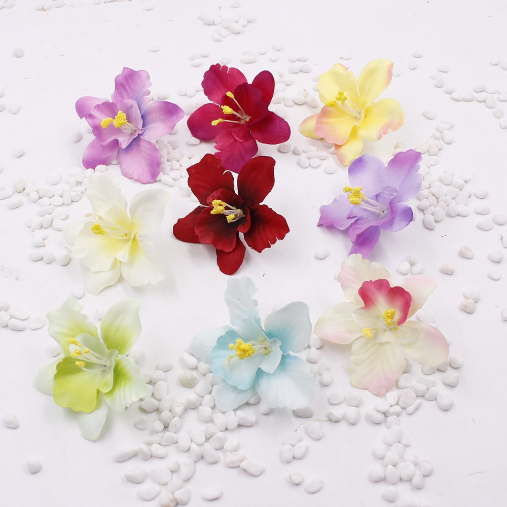 New 5pcslot Artificial Thai Orchids Silk Flower Heads 65cm For