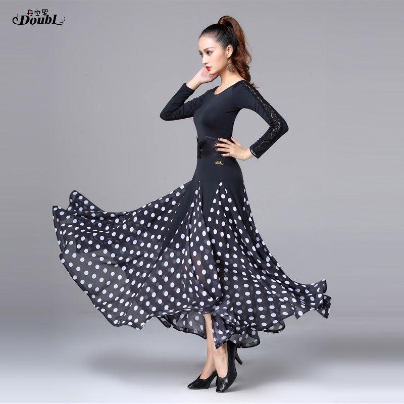 Luo Современная юбка для танцев новое платье для вальса, для социальных танцев, большая юбка, юбка для соревнований, Национальный Стандартный танцевальный костюм - Цвет: see chart
