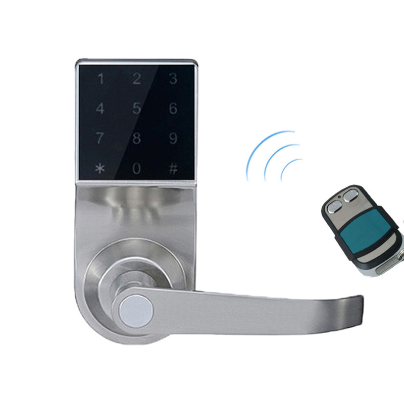 Hide Key Digital Keypad Door Lock Remote Control+Password+Card+Key Touch Screen Spring Bolt Smart Electronic Lock lk800BSRM
