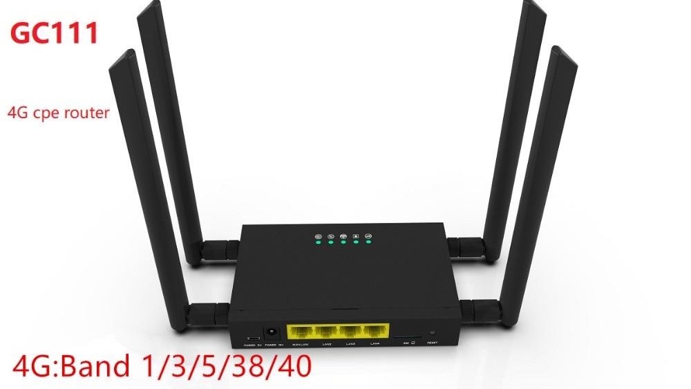 150 Mbps Débloqué 4G LTE routeur wifi, GC 111 4G Sans Fil CPE Routeur avec 4 pièces Antennes et LAN Port & SIM emplacement pour cartes jusqu'à 32 les utilisateurs