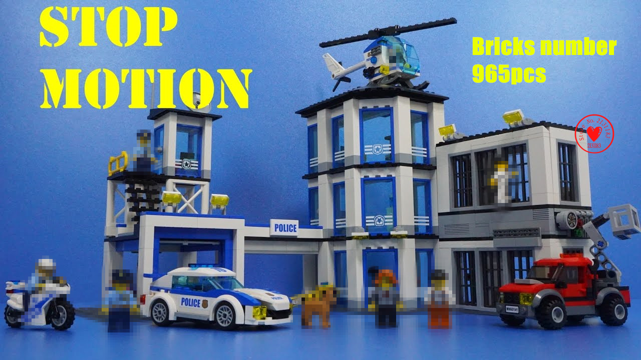 New City Police Station Building Blocks Bricks kids boys Toys Model 60141 compatible legoes gift kid set city police station dhl lepin 02020 965pcs city series the new police station set model building set blocks bricks children toy gift clone 60141