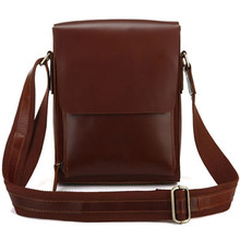 High Quality Genuine Leather Single Shoulder Men Bag Red Brown Messenger Men Bags Casual Vintage Genuine Leather Crossbody Bag