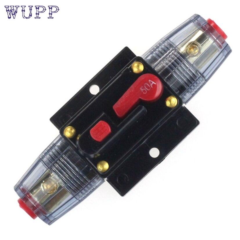 Prix pour Nouvelle Arrivée De Voiture Auto Accessoire DC 12 V Audio Stéréo Circuit Disjoncteur Remplacer Le Fusible 50A jr10