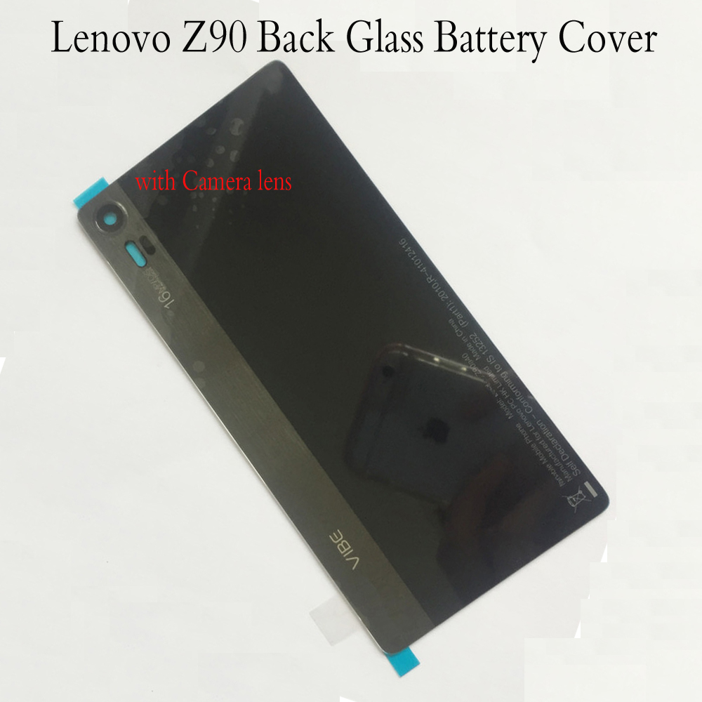 Battery Cover For Lenovo Vibe Shot Z90 Z90a40 Z90-7 Z90-3 Battery Glass Panel + Camera Lens Glass With Adhesive
