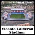 Умный и счастливый 3D-пазл  модель стадиона  без инструкций  Vicente Calderon  бумажный материал  игрушки для рукоделия