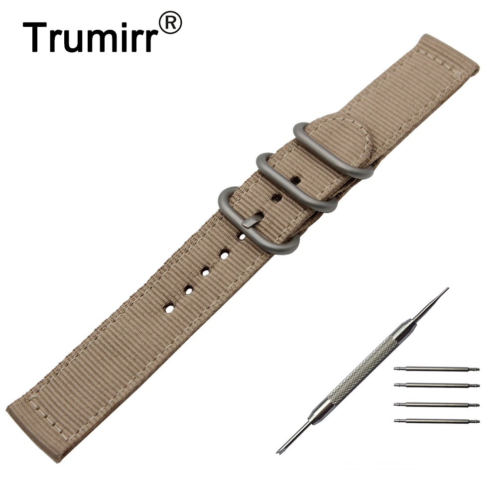 18mm 20mm 22mm 24mm Nylon Watch Band +Tool for Hamilton Zulu Fabric Strap Wrist Belt Bracelet Black Brown Blue Green Orange aibiou white led floor lights for living room adjustable standing lamp black floor lamps modern reading lighting fixtures