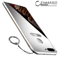 For Oppo R15 Case For Oppo R15 Metal Frame Acrylic Mirror Back Cover Case For Oppo