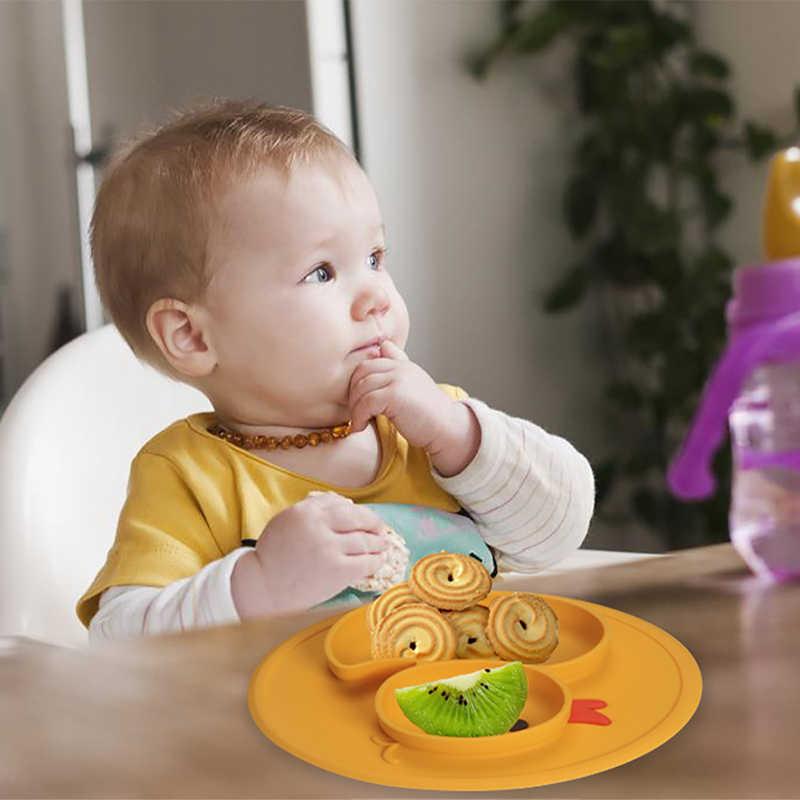 MrY Pato Do Bebê Pratos Placa Bandeja De Sucção Silicone Antiderrapante Esteira Mini Crianças Crianças Refeição Frutas Bandeja Placemat Todder