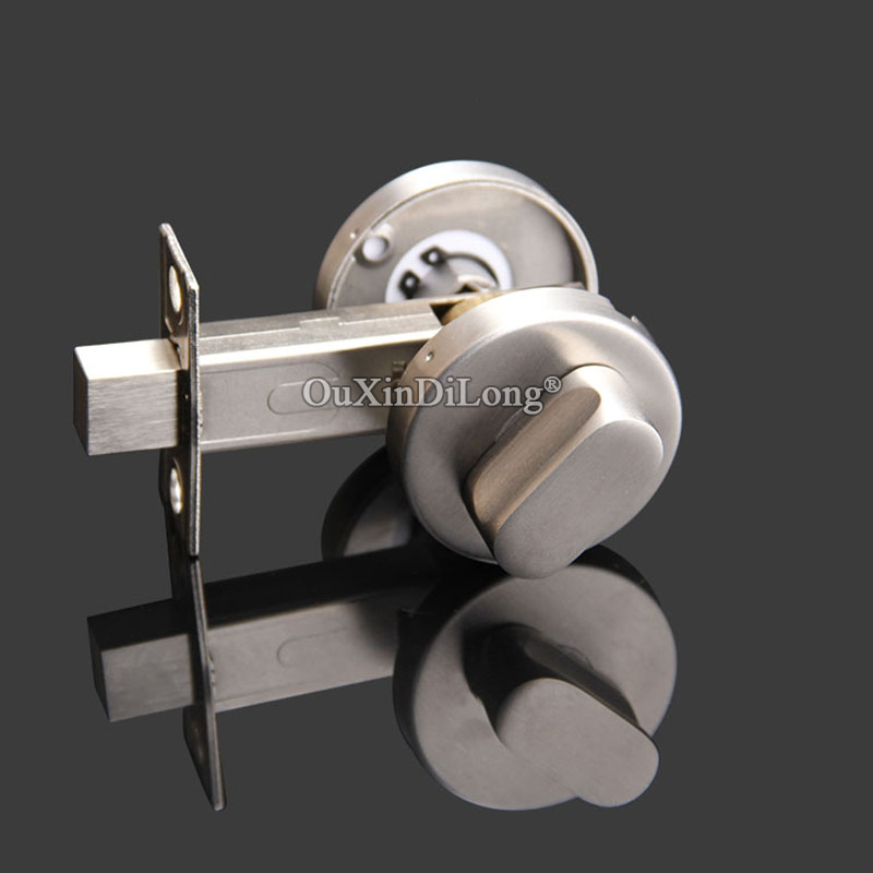 Brand new stainless steel bathroom toilet wc indicator - Installing a lock on a bedroom door ...