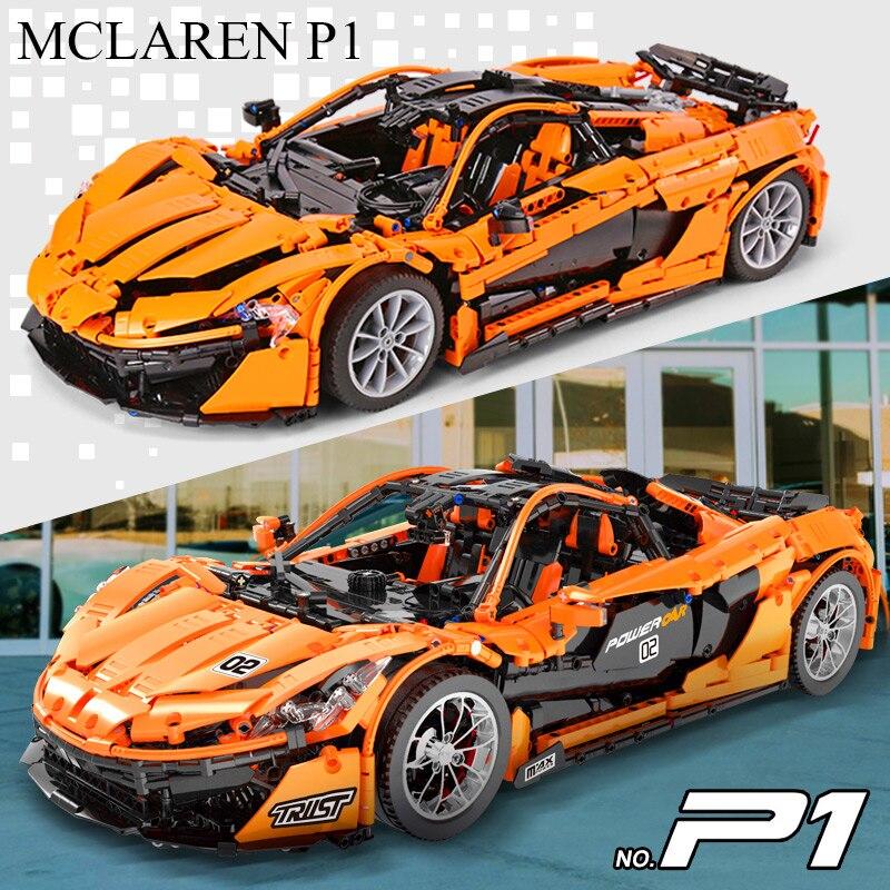 Dhl 20087 o MOC 16915 mclaren p1 velocidade carro conjunto app rc técnica motor brinquedos blocos de construção tijolos crianças brinquedos presentes natal - 3