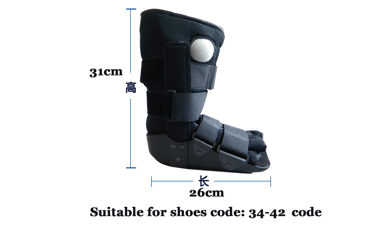 JORZILANO Fixed Rehabilitation Shoe Achilles Tendon Rupture Postoperative Ankle Fracture Therapy Brace Inflatable Walk Aid Boots