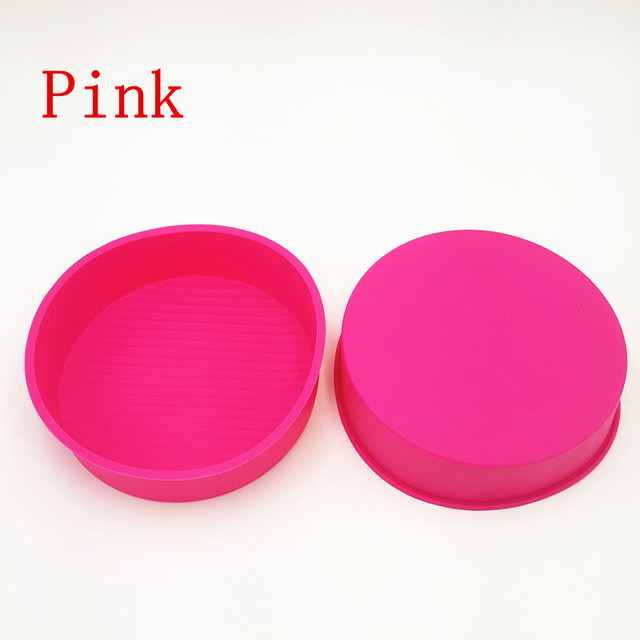 22*22*6CM 150G Colorful Big and Beautiful Round Shape 3D Silicone Cake Mold Baking Tools For Bakeware Free Shipping