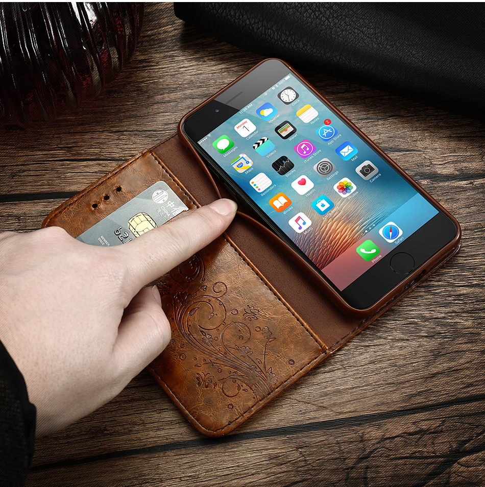 Case For iPhone 6 s 7Plus Woman Luxury Cover Flip Cases For Samsung Galaxy S6 S7 Edge (3)