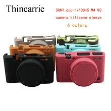Câmera Silicone Suave Caso Capa Protetora Da Pele Para Sony DSC-RX100M5 RX100M4 RX100M3 RX100 RX100 V IV Saco Da Câmera