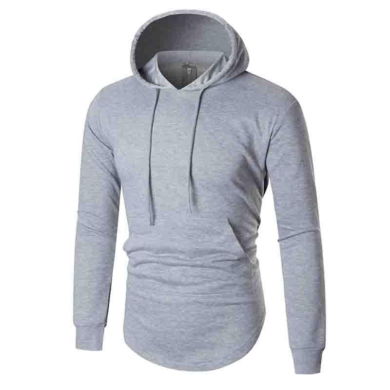 HOT 2018 Outdoor Autumn winter solid color back zipper long fleece jackets men sport jogging training hoodies Exercise Sweaters