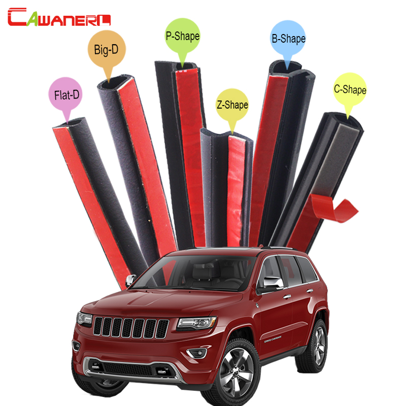 Cawanerl Whole Car Rubber Sealing Seal Strip Kit Weatherstrip Seal Edge Trim For Jeep Grand Cherokee Wrangler Commander cawanerl car rubber seal strip kit noise insulation seal edge trim weatherstrip self adhesive for jeep compass patriot liberty