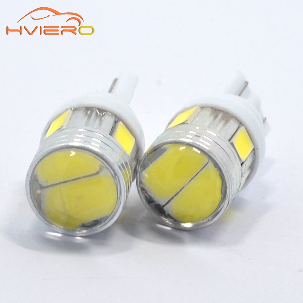 2Xs T10 W5W Interior Xenon White blue red LED 6SMD 5630 Lens Projector Solid Aluminum Bulbs Side Marker Parking Light Tail Light