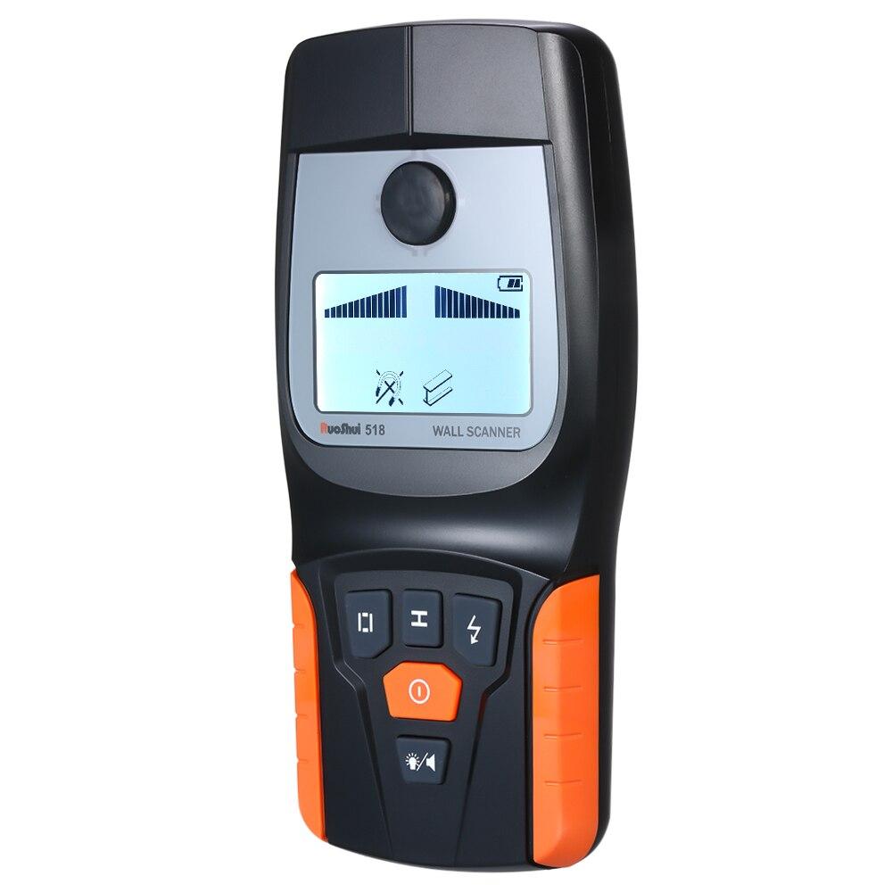 Détecteur de mur industriel multifonctionnel professionnel tenu dans la main détecteur de fil de câble en bois en métal détecteur de goujon LED bip