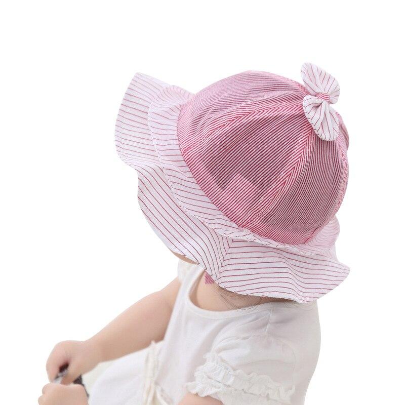 Lindo Bebé Niñas Verano Sombrero de Algodón A Rayas Princesa Cap - Ropa de bebé