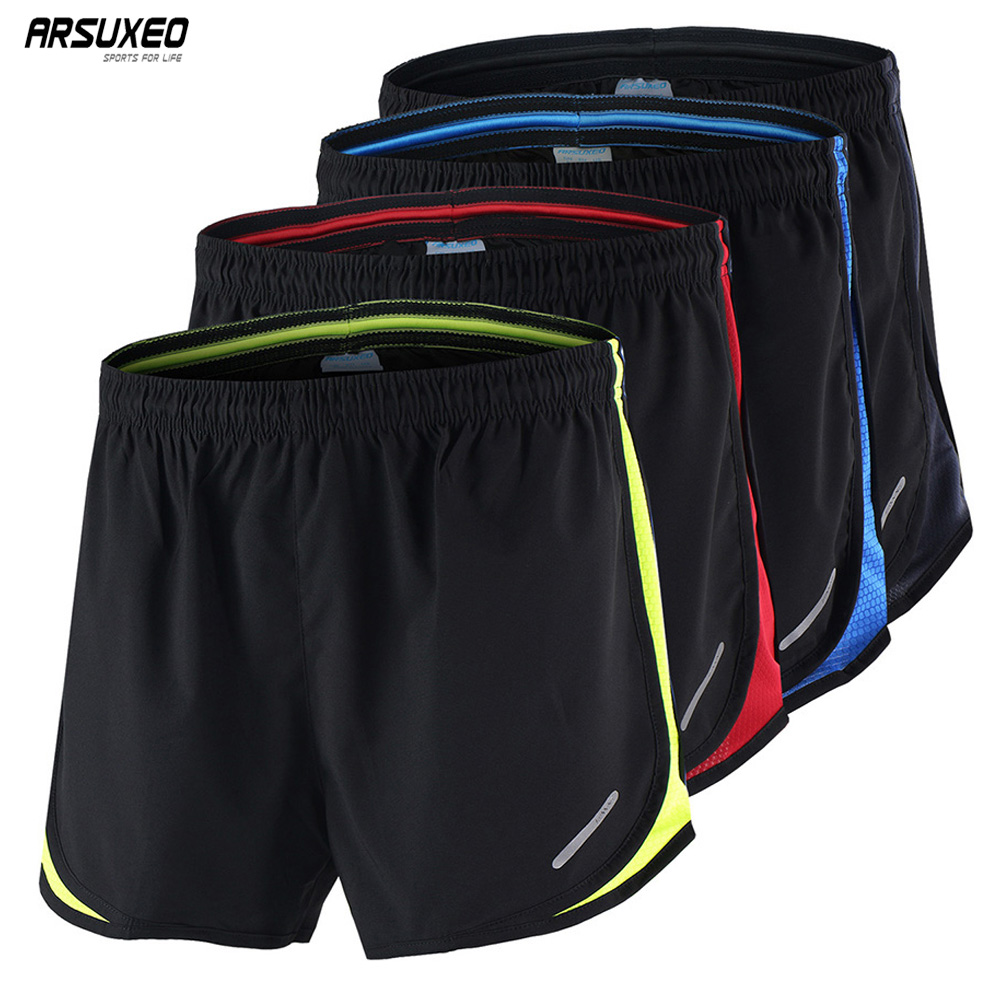 ARSUXEO Running Shorts Men 2 In 1 Sport Athletic Crossfit Fitness Gym Shorts Pants Workout Clothes Marathon Sportswear B165
