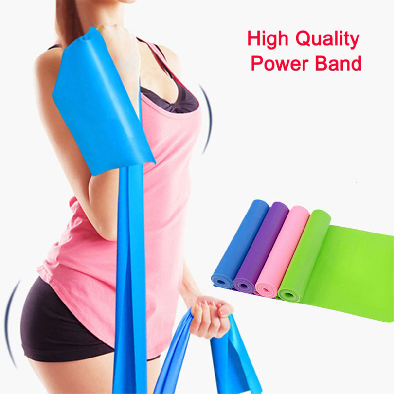 1.5M Latex Resistance Bands Body Exercise Equipment Training Equipment Fitness Band Stretch Elastic Resistance image