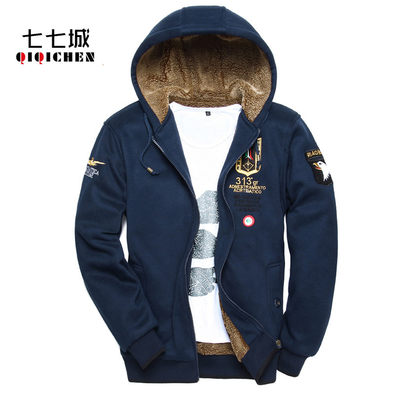 2017 Winter Air Force One Warm Thick Hoodies Men Jacket Bomber Casual  Military Hooded Jacket Cardigan - Online Buy Wholesale Cardigan Hoodie Men From China Cardigan