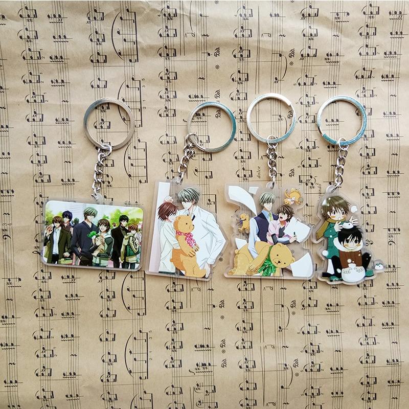 Animation Junjou Romantica Takahashi Misaki Akihiko Sekai-ichi Hatsukoi keychain Keyrings Pendants Fans Gift