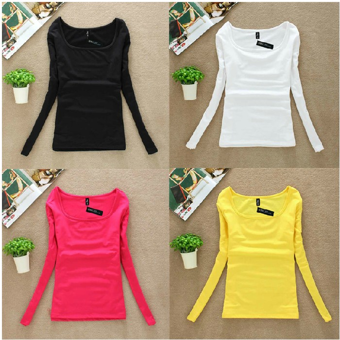 Long Sleeve Winter Tops T Shirts For Women