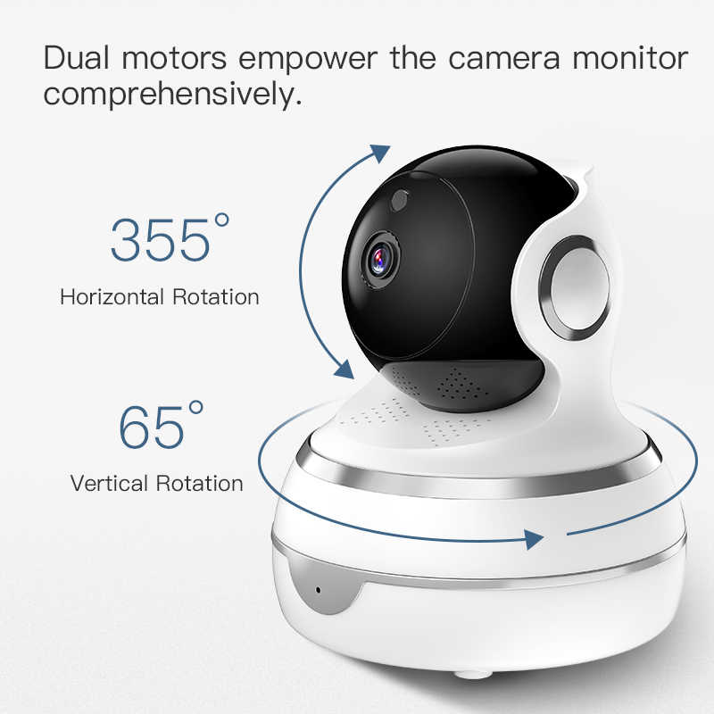 1080p 2 0mp ip wifi camera cctv security home motion detection tracing  recording night vision support for google home alexa
