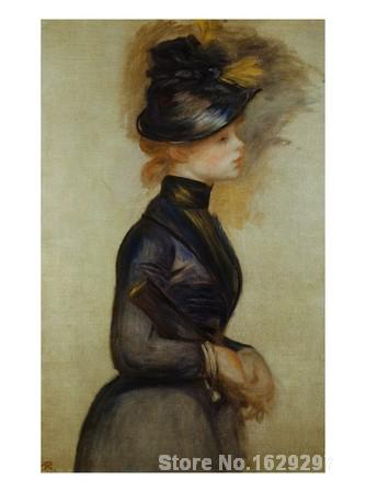artwork of Pierre Auguste Renoir Young Woman in Blue Going to the Conservatory handmade art paintings reproduction High Qualityartwork of Pierre Auguste Renoir Young Woman in Blue Going to the Conservatory handmade art paintings reproduction High Quality