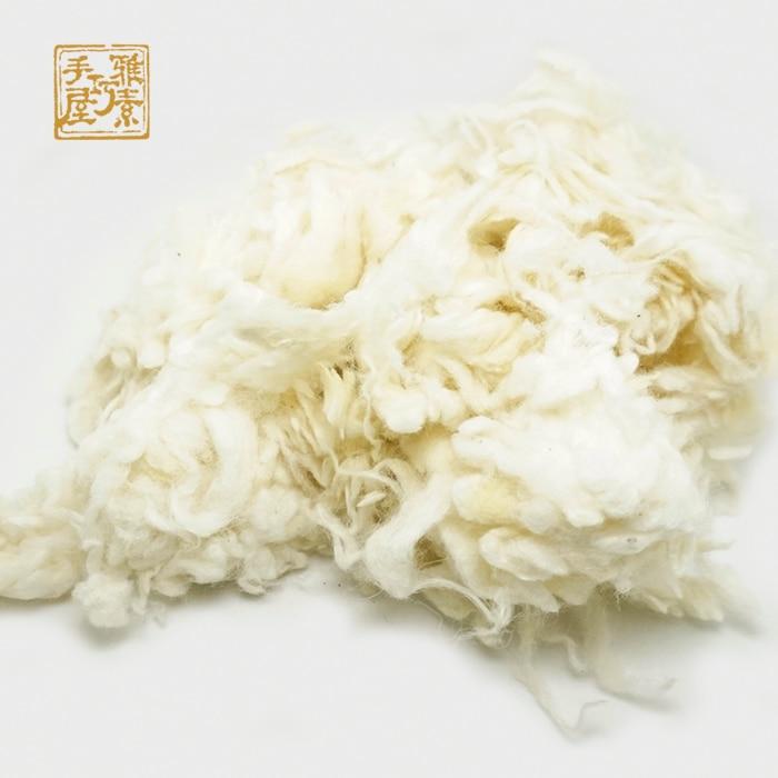 d04437dd05b84 Ücretsiz kargo Peru alpaka Kıvırcık Elyaf Yün Keçe Beyaz 50g (Iğne Keçe)  özellikle Kaniş/Bichon ve Koyun