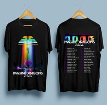 Imagine Dragons Evolve World Tour 2018 Dates T-Shirt Limited Tshirt Printed T-Shirt Boys Top Tee Shirt Cotton top tee