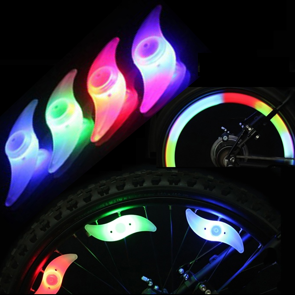 1PCS Bike Mountain Bike motorcycle road car Light Accessories Led Wheel Spoke lamp Cool Velo Bicycle Wheel Light Accessories wheel up bike head light cycling bicycle led light waterproof bell head wheel multifunction mtb lights lamp headlight m3014