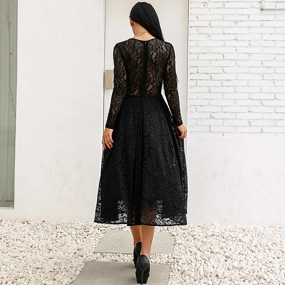 fe7e168d832a Missord 2018 Sexy Lace Dresses long sleeve cute Maxi dress Party straps  Dress FT186233-in Dresses from Women's Clothing on Aliexpress.com | Alibaba  Group