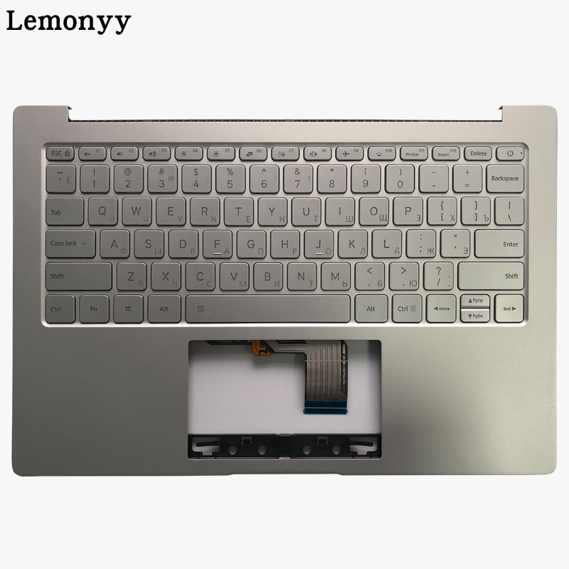 Russian Laptop Keyboard For Xiaomi MI Air 13.3 Inch 9Z.ND7BW.001 MK10000005761 490.09U07.0D01 Backlit With Palmrest Upper Cover