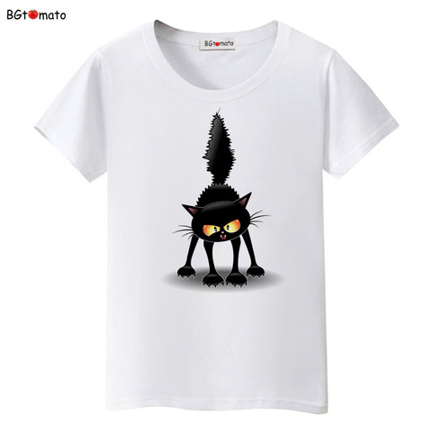 BGtomato Summer Tops Funny 3D CAT Print Women T-Shirt Female Camisetas Tops Loose Cartoon T Shirt Short Sleeve O-Neck Tees Tops Islamabad