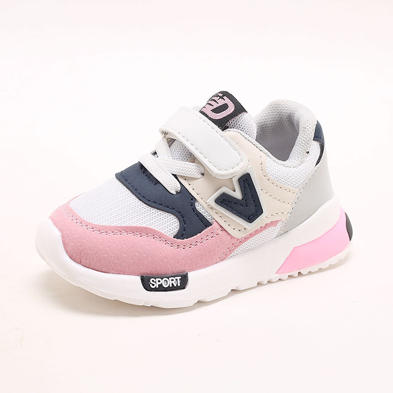 Kids Shoes for Baby Boys Girls Childrens Casual Sneakers Air Mesh Breathable Soft Running Sports Shoes Pink Gray