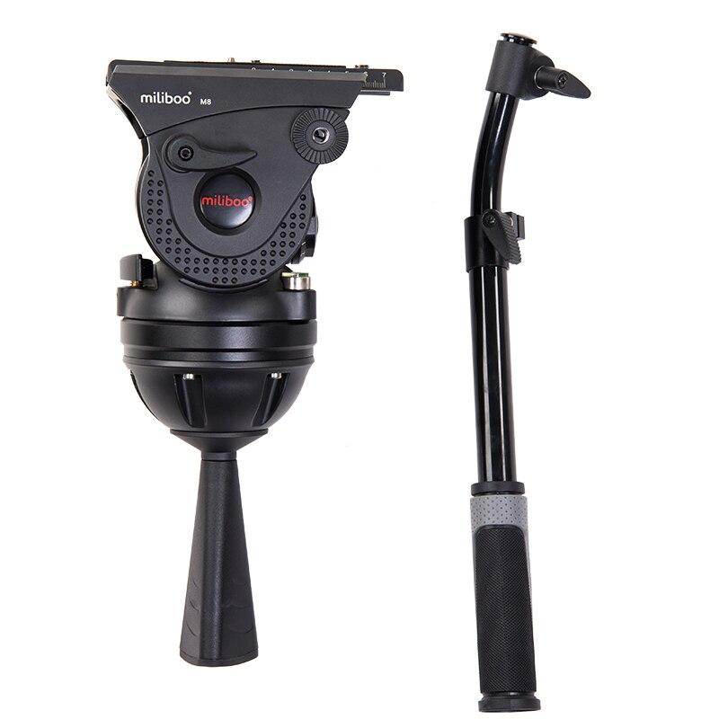 bilder für Miliboo M8 Professionelle Broadcast Film Video Flüssigkeit Köpfe Last 15 kg Schwere Stativ Kamerastativ mit 100mm Schüssel